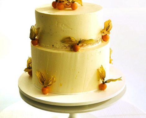 Bolo Semi Naked Cake com Physalis